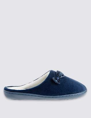 Marks and Spencer Spotted Bow Mule Slippers