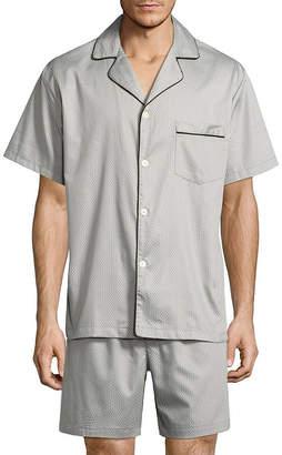 STAFFORD Stafford Sateen Short Sleeve/ Short Leg Pajama Set - Men's