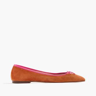 Gemma suede flats with contrast trim $98 thestylecure.com