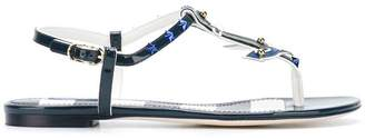 Dolce & Gabbana nautical flat sandals