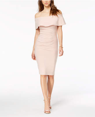 Xscape Evenings Off-The-Shoulder Sheath Dress