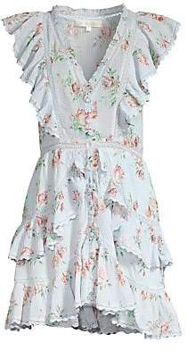 LoveShackFancy Women's India Ruffle Floral Dress
