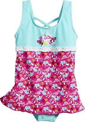 Playshoes Girl's Uv-Schutz Badeanzug Mit Rock Flamingo Swimsuit,(Manufacturer Size: 98/104)