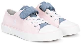 Ralph Lauren two tone denim sneakers