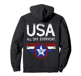 Usa All Day Everyday For Woman Pullover-Hoodie