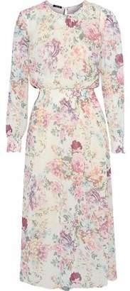 Raoul Floral-Print Cotton-Blend Chiffon Midi Dress