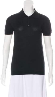 Dolce & Gabbana Zip-Up Polo Top Black Zip-Up Polo Top
