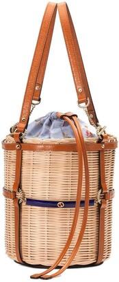 Gucci Wicker small bucket shoulder bag