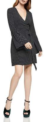 BCBGeneration Polka Dot Wrap Dress