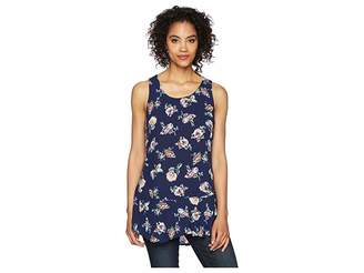 Mod-o-doc Printed Rayon Woven Scoop Neck Tank Top w/ Flounce Hem Women's Sleeveless