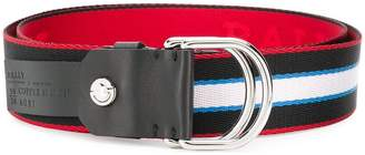 Bally stripe nylon belt