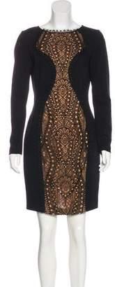 Emilio Pucci Mini Lace-Accented Dress