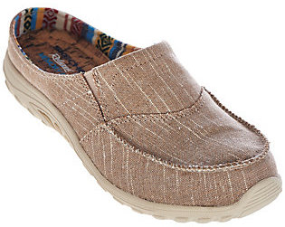 As Is Skechers Relaxed Fit Linen Slip-On Mules $31.50 thestylecure.com