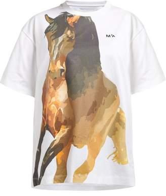 Marques Almeida Marques'almeida - Horse Print Jersey T Shirt - Womens - White Multi