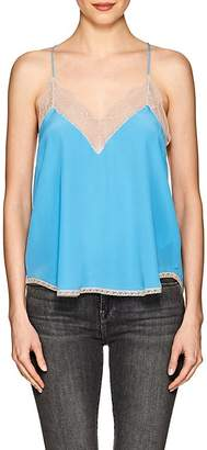 Zadig & Voltaire WOMEN'S CHRISTY LACE-TRIMMED SILK TANK