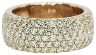 Cartier 18K Rose Gold Classic 1.50ct. 5 Row Diamond Wedding Band Ring Size 6.75