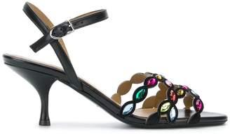Sonia Rykiel gem strap slingback sandals