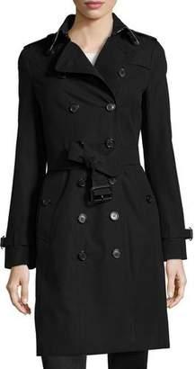 Burberry Sandringham Long Slim Trenchcoat, Black