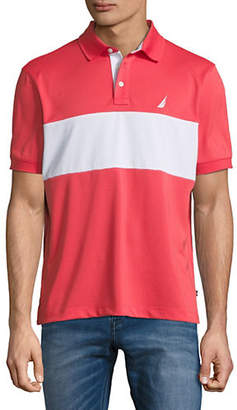 Nautica Colourblock Short-Sleeve Polo