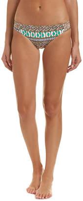 Trina Turk Macrame Mix Shirred Side Hipster Bikini Bottom