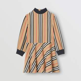 e686fd98 Burberry Long-sleeve Icon Stripe Turtleneck Dress