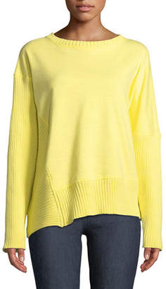 Neon Buddha South Beach Pullover Sweater w/ Asymmetric Hem, Plus Size