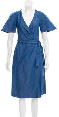 Vanessa Seward Chambray Wrap Dress w/ Tags