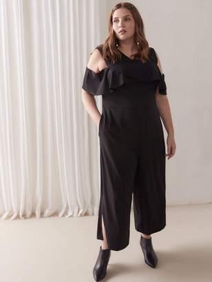 Off-the-Shoulder Cropped Jumpsuit - RACHEL Rachel Roy