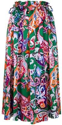 Kenzo Paisley print skirt