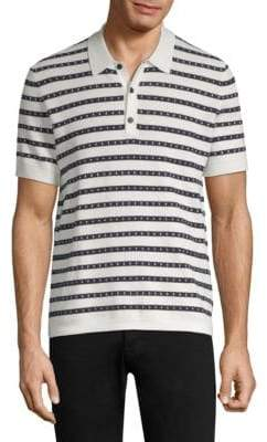 Burberry Textured Striped Polo