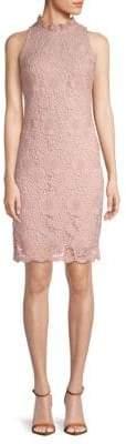 Donna Ricco Sleeveless Lace Shift Dress