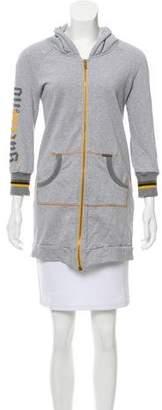 Galliano Embellished Zip-Up Sweatshirt