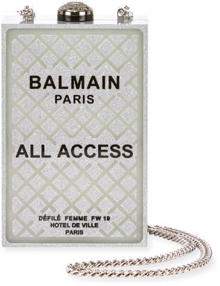 Balmain All Access Minaudiere Box Clutch Bag