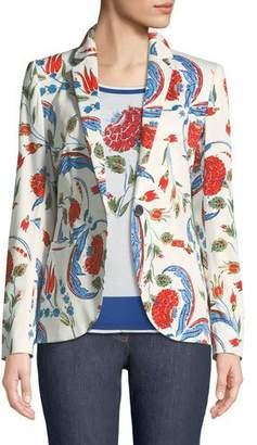 Escada Iznik Pottery-Print One-Button Blazer