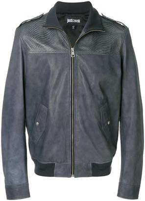 Just Cavalli embossed bomber jacket