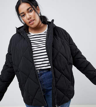 Asos DESIGN curve puffer made with recycled plastic bottles