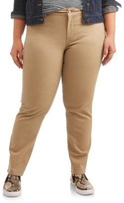 Just My Size Women's Plus-Size 5 pocket stretch Jean