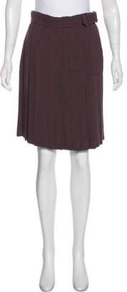 Jean Paul Gaultier Knee-Length Pleated Skirt