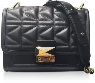 Karl Lagerfeld Black K/Kuilted Mini Satchel Bag