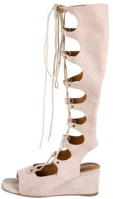 Chloé Suede Knee-High Sandals