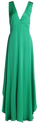 By Malene Birger Embellished Two-tone Silk-blend Satin Gown
