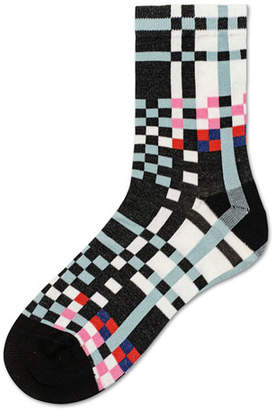 Hysteria By Happy Socks Polly Graphic Cotton Ankle Socks