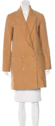 The Row Double-Breasted Knee-Length Coat w/ Tags