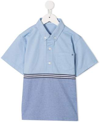 Familiar two-tone polo shirt