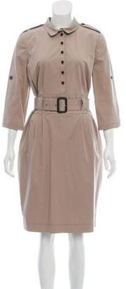 Burberry Belted Knee-Length Dress w/ Tags