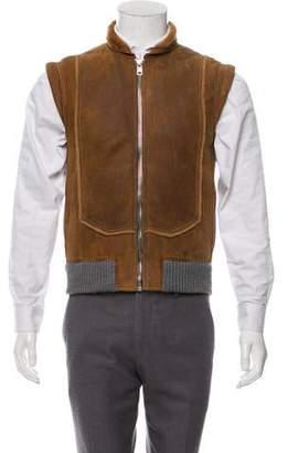 Christian Dior 2007 Shearling Wool-Trimmed Vest