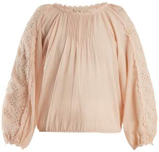 Vanessa Bruno Innocent broderie-anglaise cotton-blend blouse