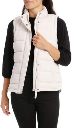 Straight Quilt Vest With Curved Hem