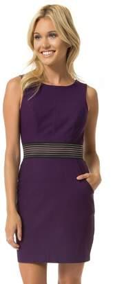 Teeze Me Juniors Sleeveless Elastic Trim Illusion Waist Dress With Pockets