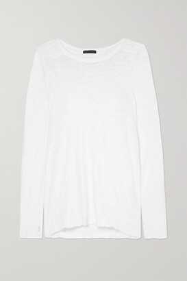 ATM Anthony Thomas Melillo Distressed Slub Cotton-jersey Top - White